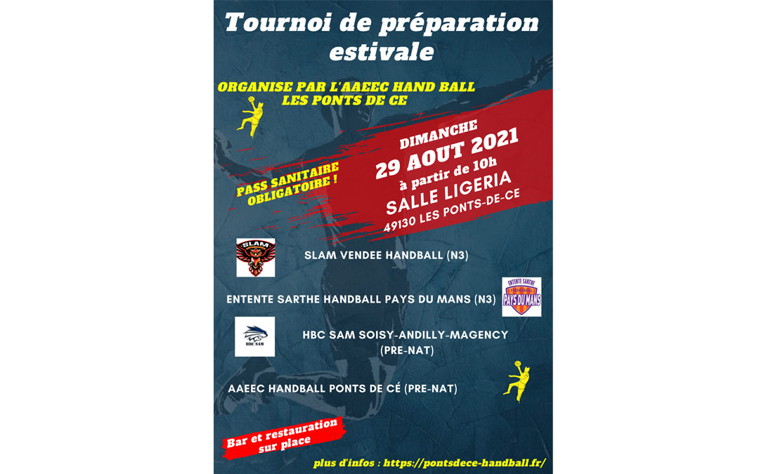 Tournoi de préparation estivale du 29 Aout 2021